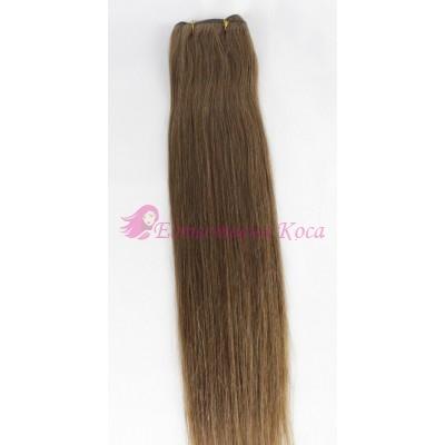 N 6: Естествена коса 45, 50 и 55 см. Широчина на тресата - 80 сантиметра.